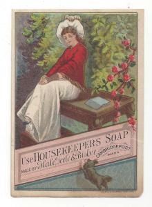 Victorian Trade Card Housekeepers Soap Cambridgeport MA