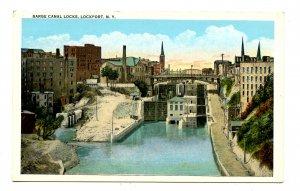 NY - Lockport. Barge Canal Locks