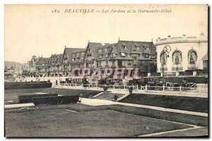 Old Postcard Deauville Gardens and the Normandy Hotel