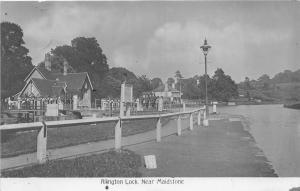 uk40248 allington lock near maidstone  real photo  uk kent