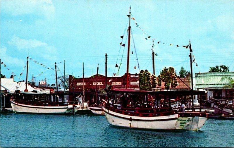 Florida Tarpon Springs Scene Along Sponge Fleet Docks On The Anclote River