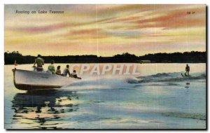 Postcard Old Boat Boating Lake Texoma one