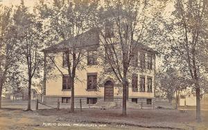 Packwaukee WI Public School RPPC Postcard