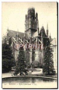 Old Postcard Rouen Eglise Saint Ouen