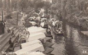 RP: XACHIMILCO, Mexico, 1920-40s; Trajineras