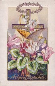 Joyous Eastertide With Beautiful Butterfly Embossed 1910