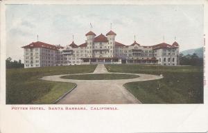Potter Hotel, Santa Barbara, California, early postcard, Unused