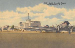 Winston Salem North Carolina Smith Reynolds Airport Antique Postcard K103312