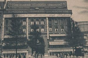 Miss Blanche Virginia Cigarettes BonBons Chocolate Antique Advertising Postcard