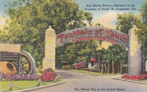 Florida St Augustine San Marco Avenue Entrance To The Fountain Of Youth