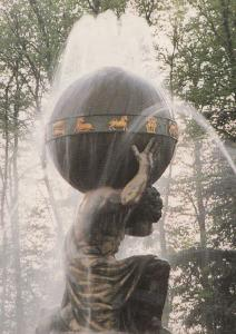Castle Howard Charles Atlas Statue Yorkshire Superb Close Up Postcard