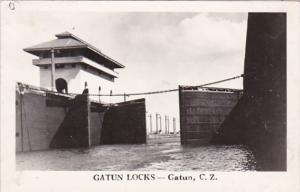 Panama Canal Zone Gatun Locks Real Photo