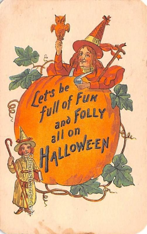 Halloween Vintage Post Cards Halloween Postcard 1915