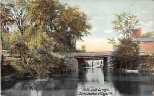 11546   ME Stroudwater Village 1910  Falls and Bridge