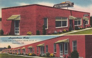 Maryland Hagerstown The Hagerstown Motel and Restaurant 1955 sk2185