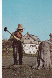 ST. JEAN PORT JOLI, Quebec, Canada, PU-1967; Wood Sculptures, Sculpture Sur B...