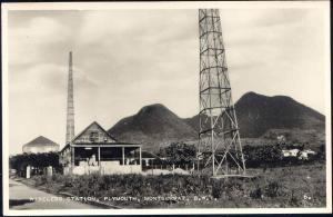 montserrat, B.W.I., PLYMOUTH, Wireless Station (1950s) RPPC
