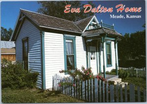 postcard Eva Dalton Home, Meade Kansas