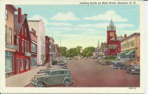 Newport, N.H., Looking North on Main Street