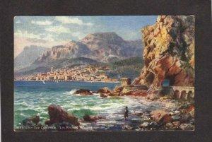 Villes de France Menton Roches Tuck Oilette Carte Postale Postcard Carte Postale