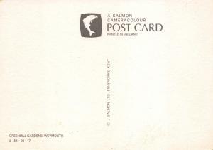 Dorset Postcard Greenhill Gardens, Weymouth by J. Salmon Ltd #607