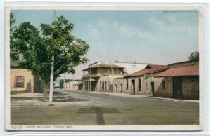 Adobe Building Tucson Arizona 1910c postcard