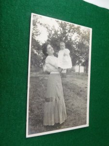 Vintage RPPC of Beautiful Woman and Infant Stunning Image A6