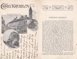 Czechoslovakia Ceskykrumlov Hotel Ruze Pohled Vltay 1912