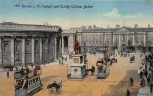 Old houses of Parliament & Trinity College, Dublin, Ireland, Unused Card