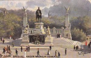 BRESLAU, Germany (Now Poland), 1900-1910's; Kaiser Wilhelm Denkmal