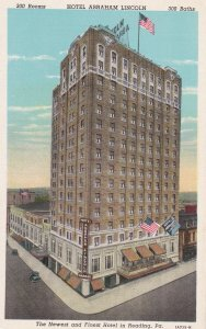 READING , Pennsylvania , 1910s Abraham Lincoln Hotel