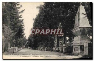 Postcard Old Allees Arles Alyscamps Le Tombeau des Consuls