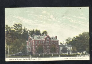 FAIRFIELD COUNTY OHIO CHILDRENS HOME ORPHANS VINTAGE POSTCARD