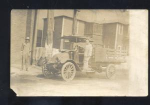 RPPC EL PASO TEXAS VINTAGE DELIVERY TRUCK WAGON REAL PHOTO POSTCARD