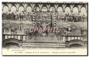 Lyon Old Postcard Basilica of ND Fourviere Mosaique the Vow of Louis XII
