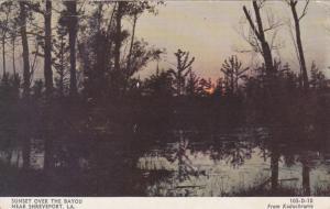 Sunset over the Bayou near Shreveport, Louisiana,  PU-1960
