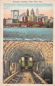 USA Brooklyn Subway, New York City, tunnel, railroad