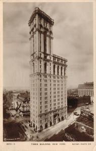 USA Times Building New York RPPC 01.85
