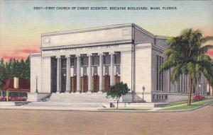 Florida Miami First Church Of Christ Scientist Biscayne Boulevard