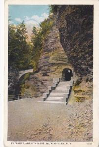 New York Watkins Glen Entrance To Amphitheatre Curteich