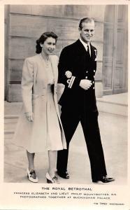 The Royal Betrothal, Elizabeth, Philip, Buckingham Palace, Real Photograph