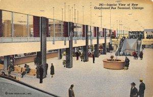 Buses Post Card Greyhound Bus Terminal Chicago, Illinois, USA Unused