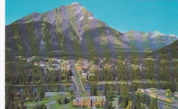 Canada Banff With Cascade Mountain