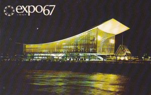 Night View Soviet Union Pavilion Expo 67 Montreal Canada