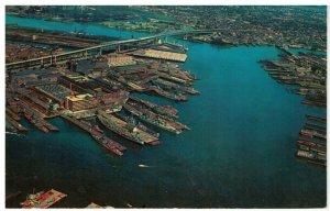 Postcard - Aerial View Of Boston Harbor, Massachusetts
