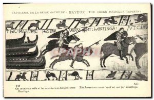 Postcard Old Bayeux Tapestry Queen Mathilde We climb into the saddle and ride...