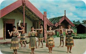 Poi Dance Model PA New Zealand National Publicity NZ 1965 Postcard