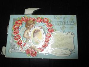 VALENTINES DAY POSTCARD 1915 $25.00 OR BEST OFFER