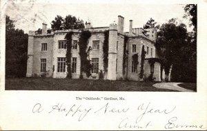 Maine Gardiner Oakland The Gardiner Mansion 1906