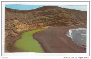 El Golfo, Islas Canarias, 1960-70s, Vista de las peculiares aguas de color verde